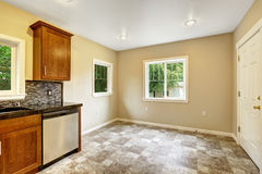 Dining area in empty kitchen room Royalty Free Stock Photo
