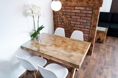 Dining area hotel apartment Stock Photos