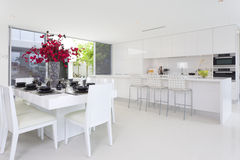 Dining area and kitchen Royalty Free Stock Images