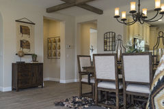 Dining area model home. Stock Photos