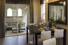 Dining area model home. Royalty Free Stock Photos