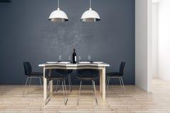 Dining area in modern kitchen stock illustration