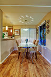 Dining area with painted window Stock Photos