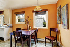 Dining area in peach color Stock Images