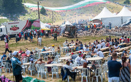 The dining area on Rozhen Festival 2015 Stock Photos