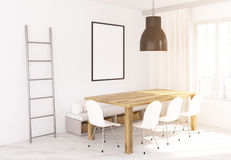 Dining area sideview Royalty Free Stock Images