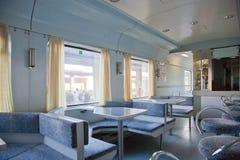 Dining Car at European Train Station Royalty Free Stock Photo