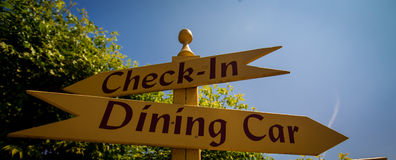 Dining car sign Royalty Free Stock Photo