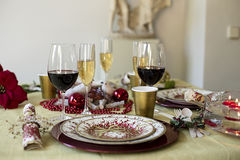 Dining Christmas table Stock Photography