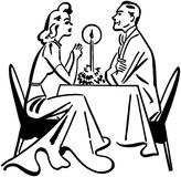 Dining Couple Royalty Free Stock Photos
