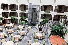 Dining Courtyard Royalty Free Stock Photos