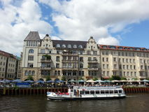 A dining cruise in Spree, a river of Berlin, Germany Royalty Free Stock Photography