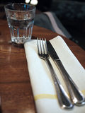 Dining Cutlery. Being layed out properly on a table royalty free stock photos