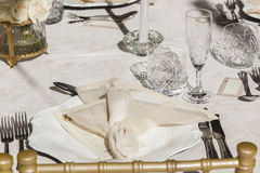 Dining Cutlery Chairs Tables Decor Stock Photography