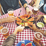Dining Dinner Drinking Brunch Lifestyle Friendship Concept Royalty Free Stock Images