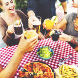Dining Dinner Drinking Brunch Lifestyle Friendship Concept Stock Photos