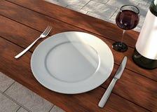 Dining dish Royalty Free Stock Image