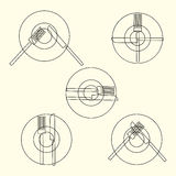 Dining Etiquette, Forks And Knifes Signals. Royalty Free Stock Photography