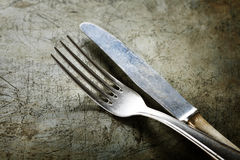 Dining fork and knife Stock Image