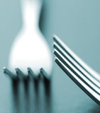Dining forks Stock Image