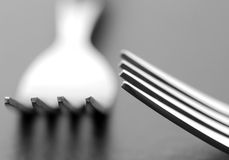 Dining forks Stock Photography