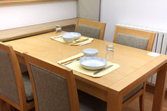 Dining Furniture and Utensils Stock Photo