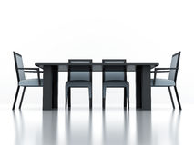 Dining group with a table and chairs Royalty Free Stock Photos