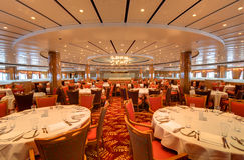 Dining Hall. An elegant restaurant dining hall Stock Photo