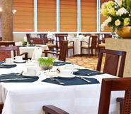 Dining hall in hotel Royalty Free Stock Photo