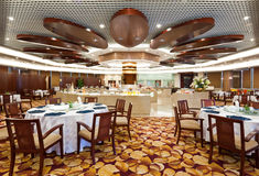 Dining Hall In Hotel Stock Photo