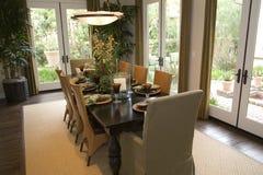 dining home luxury room Στοκ φωτογραφία με δικαίωμα ελεύθερης χρήσης