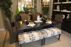 dining home luxury room Στοκ Εικόνα