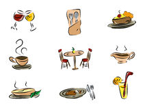 Dining Icons Stock Image