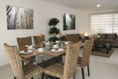 Dining and living room. View of dining and living room Stock Images