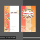 Dining modern business card template Royalty Free Stock Photo