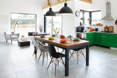 dining modern room Στοκ φωτογραφίες με δικαίωμα ελεύθερης χρήσης