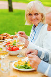 Dining with the nearest. Stock Image