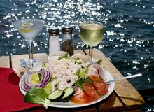 Free Dining On The Bay Stock Images - 2515924