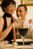 Dining out. Healthy living: young couple in love dining out Stock Photos