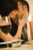 Dining out. Healthy living: young couple in love dining out Stock Images