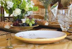 Dining Out 3. Elegant home table setting Royalty Free Stock Photo