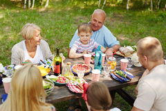Dining outdoors Royalty Free Stock Image