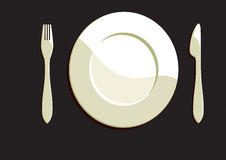 Dining Plate Royalty Free Stock Photography
