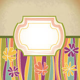 Dining retro antique template Stock Photography