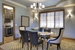 Dining Room. Angled view of contemporary dining room Stock Photo