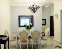 Dining room. Picture of interior dining room Royalty Free Stock Images