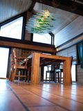 Dining room. Wooden furniture, dining room, cozy home Royalty Free Stock Photography