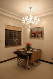 Dining room. In a modern house Royalty Free Stock Image