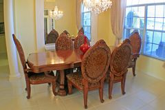 Dining Room. A modern dining room in a Florida Home Royalty Free Stock Images