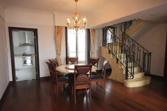 Dining room. A dining room of an apartment Stock Photo